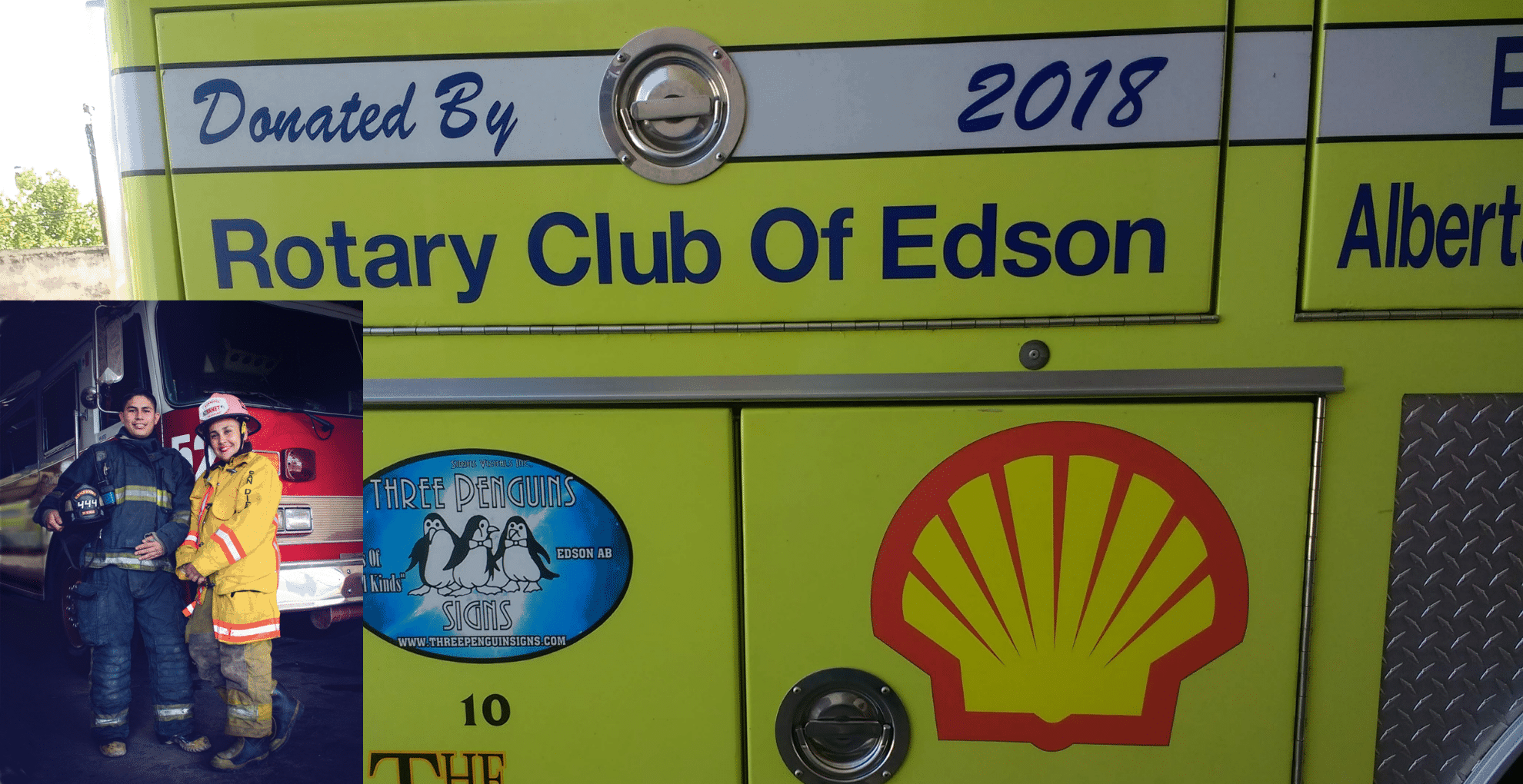 Firemen vehicle donated to Mazatlan by Rotarians from Canada